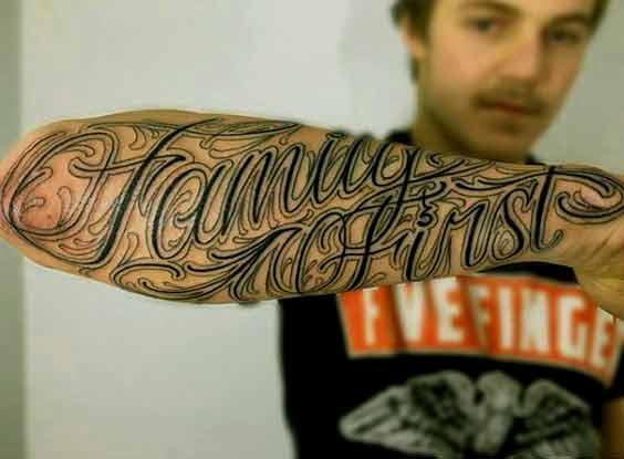 family first tattoo design