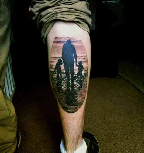 family silhouette tattoo