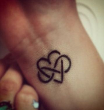 heart infinity wrist tattoo for couples