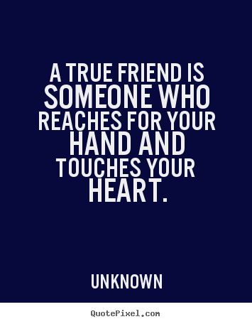 heart touching quote image about true friend