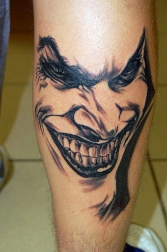 joker face tattoo designs