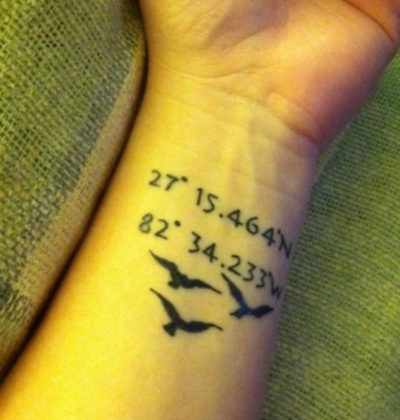 coordinate with ravens tattoo on wrist