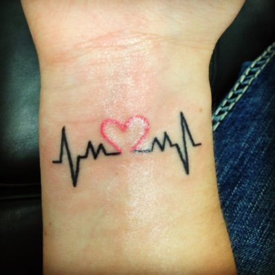 heart tattoos on wrist