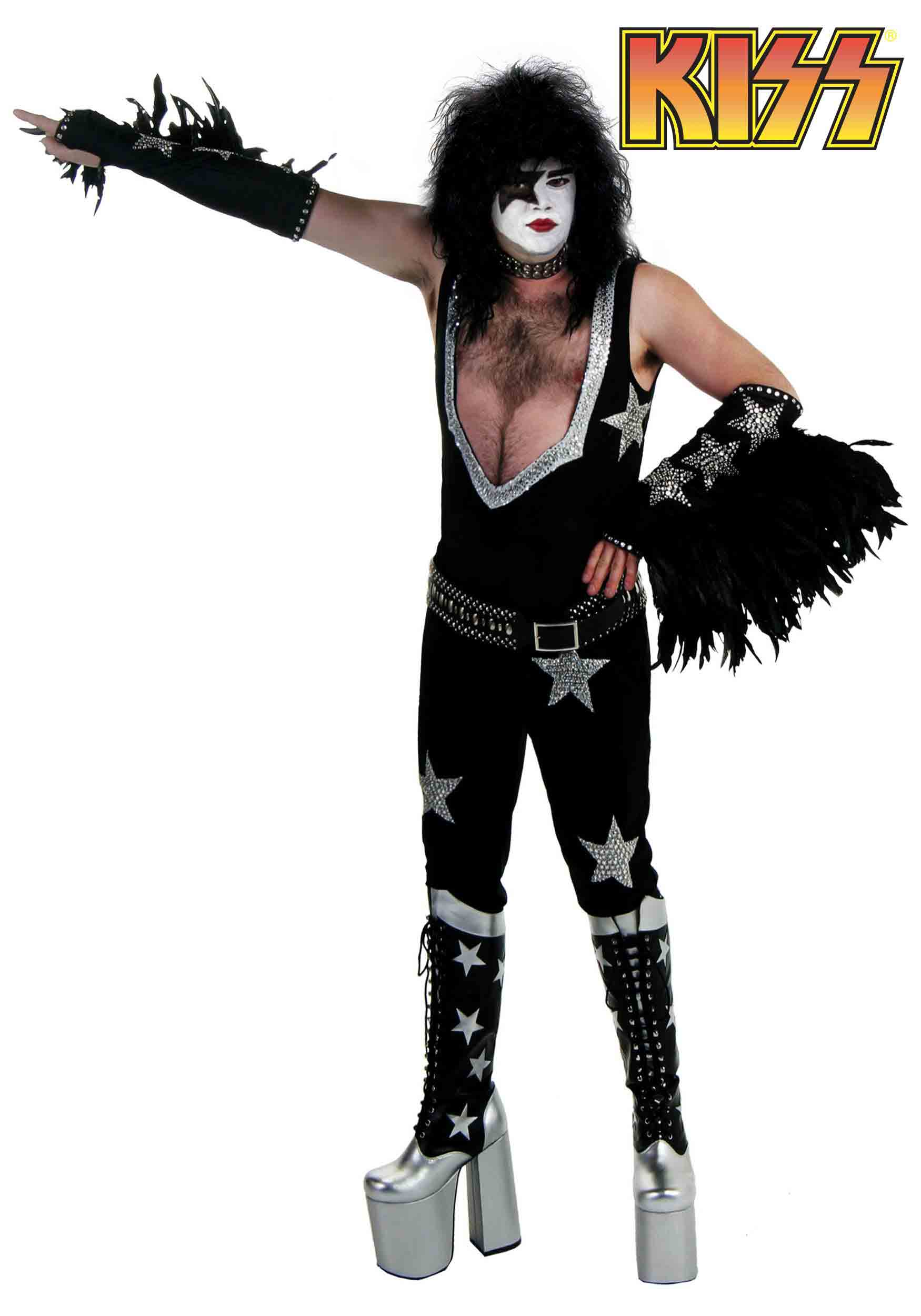 Authentic Paul Stanley Long Hair Men Costume Ideas for Halloween