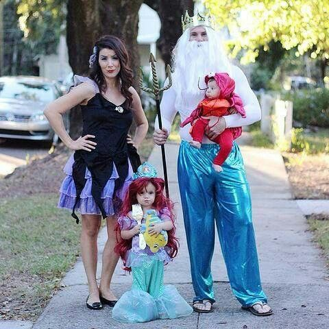 disney little mermaid family halloween cosplay ideas