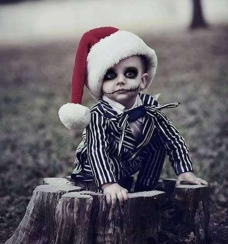 diy scary jack kids halloween costume and makeup ideas
