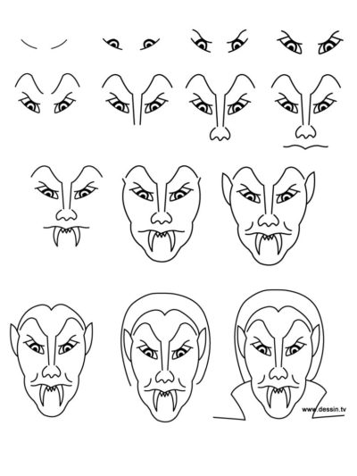 easy vampire drawing ideas for halloween