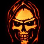 grim reaper face pumpkin carving pattern design ideas for halloween