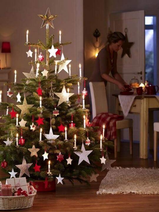 Christmas matte tree decorations