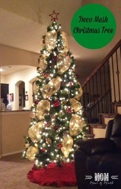 Christmas tree mesh decorations