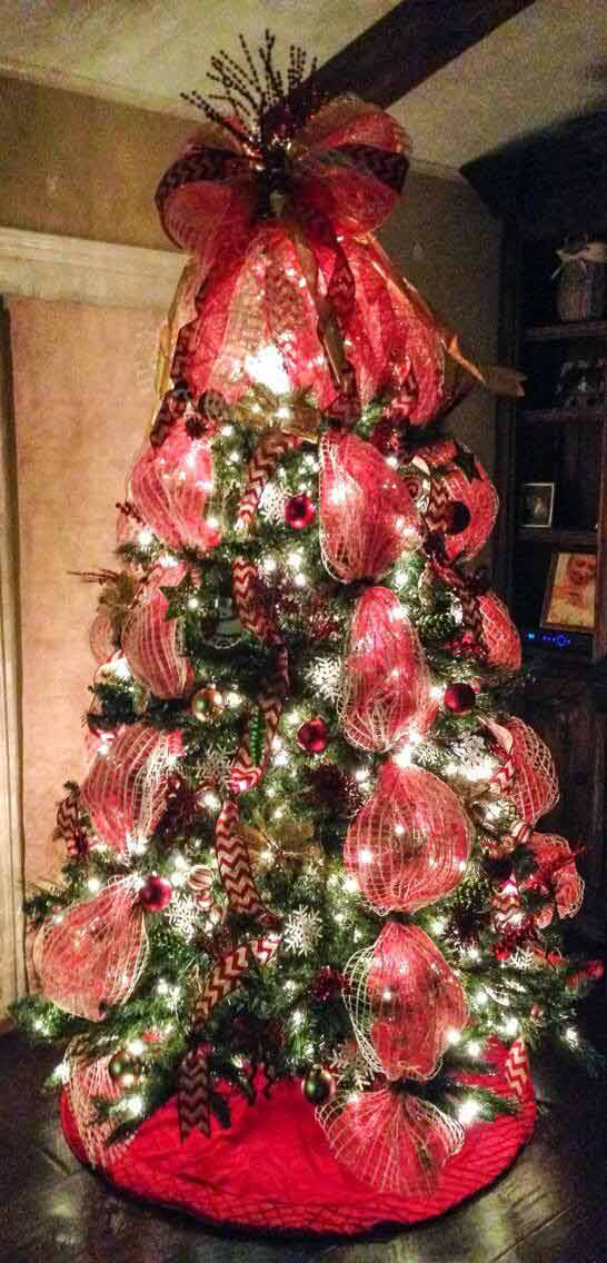 mesh style Christmas tree decoration