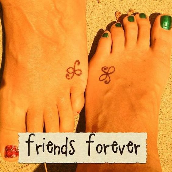 celtic knot tattoo symbols on foot