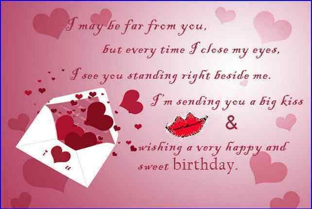far away birthday message photos for him