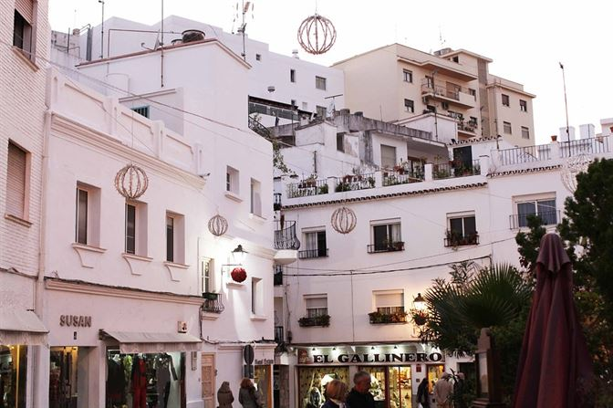 marbella spain old town view