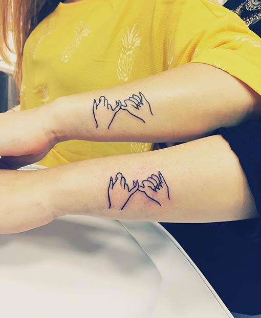 pinky swear tattoo symbol ideas for best friends