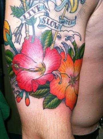 hibiscus flower tattoo for men