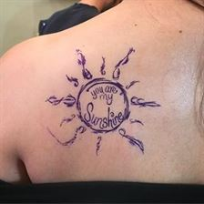 you are my sunshine tattoo ideas on back
