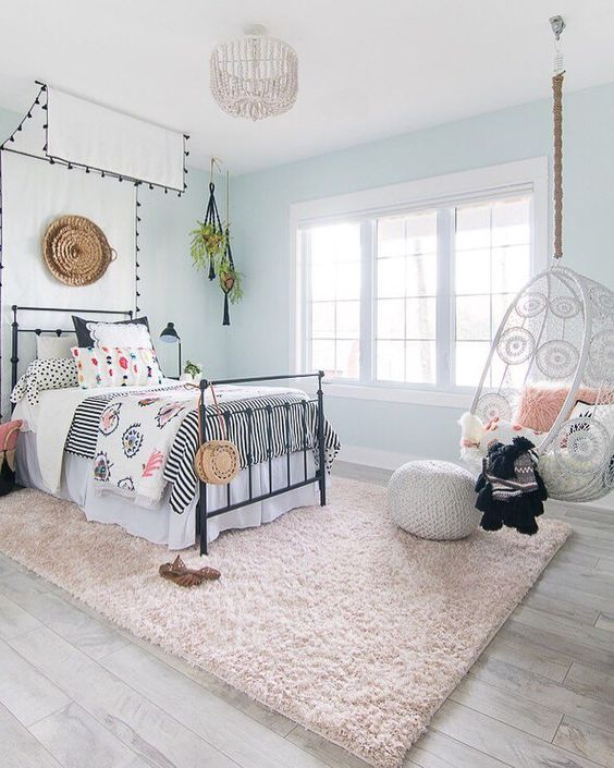 girls bedroom decorating ideas with chic and rugs