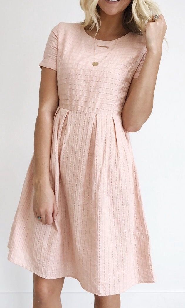 light pink cotton summer dress