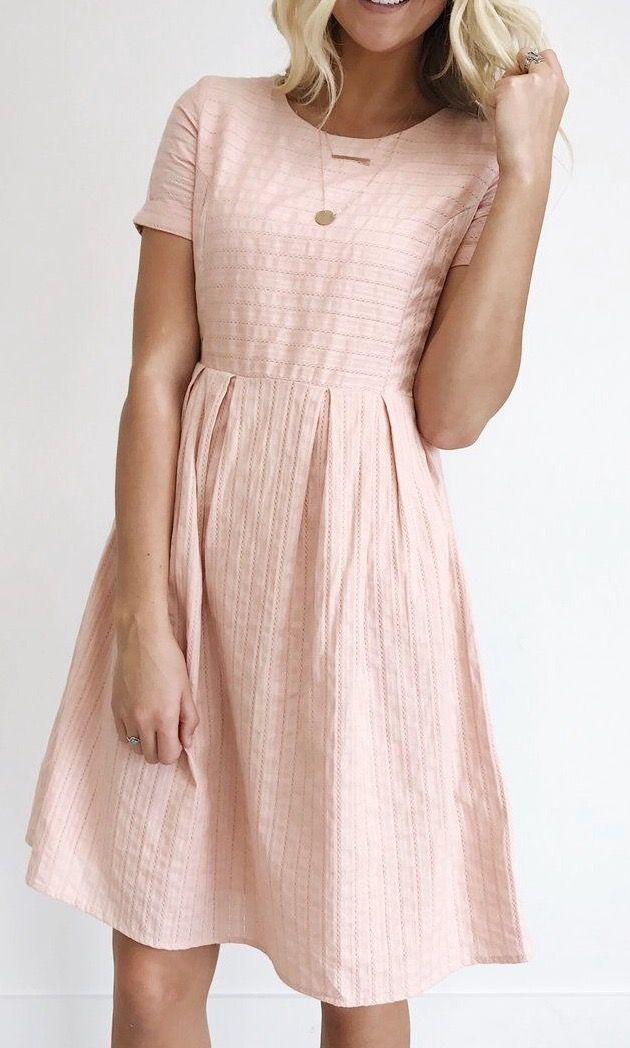 light pink cotton summer dress
