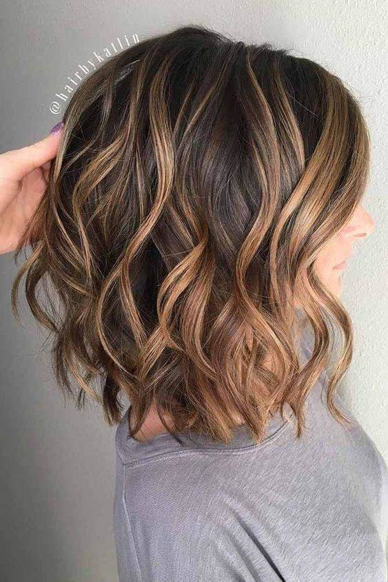 medium layered thick bob haircut