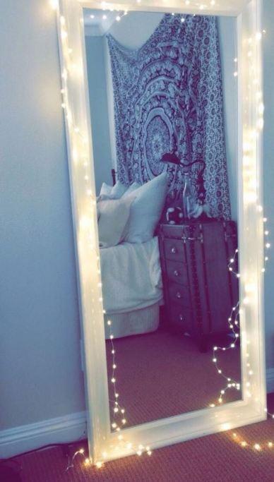 teenage girl living room mirror lights ideas for decoration