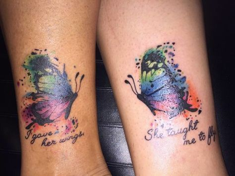 matching mother and daughter tattoo