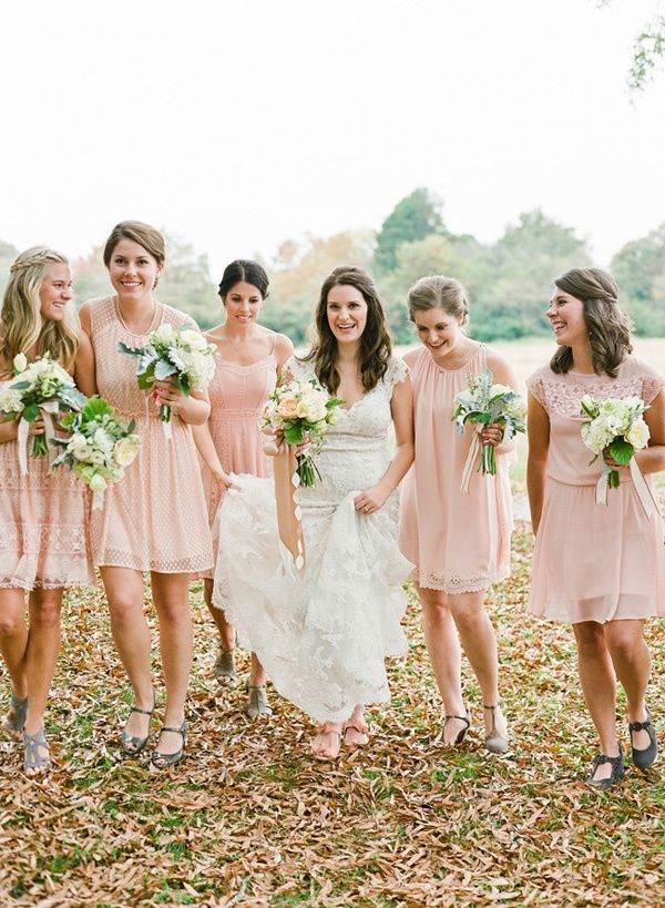 soft peach summer wedding dress color ideas for 2019