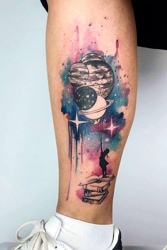 galaxy tattoo ideas for females