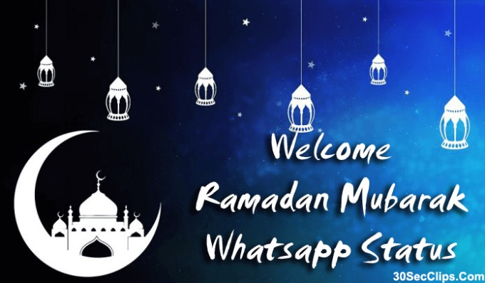 welcome ramadan whatsapp status image