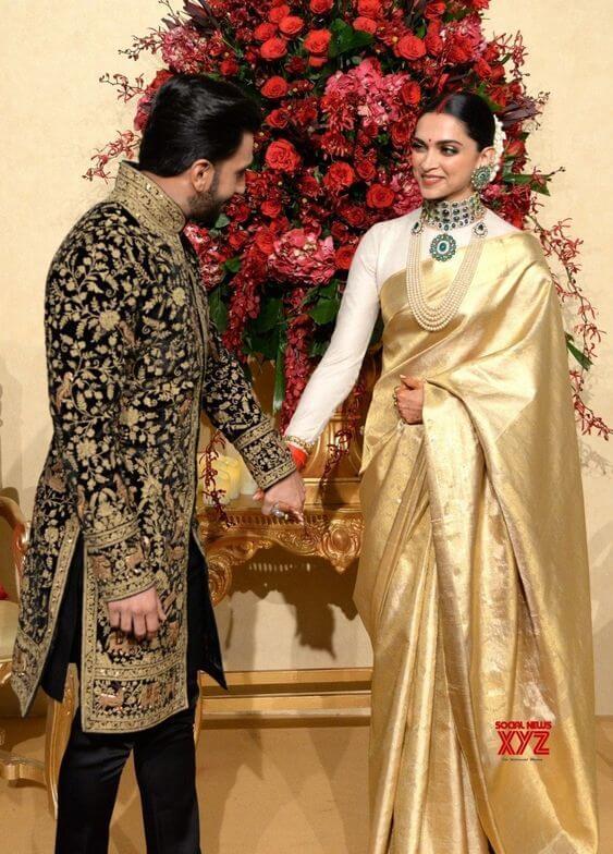 Deepika Padukone in Golden Saree