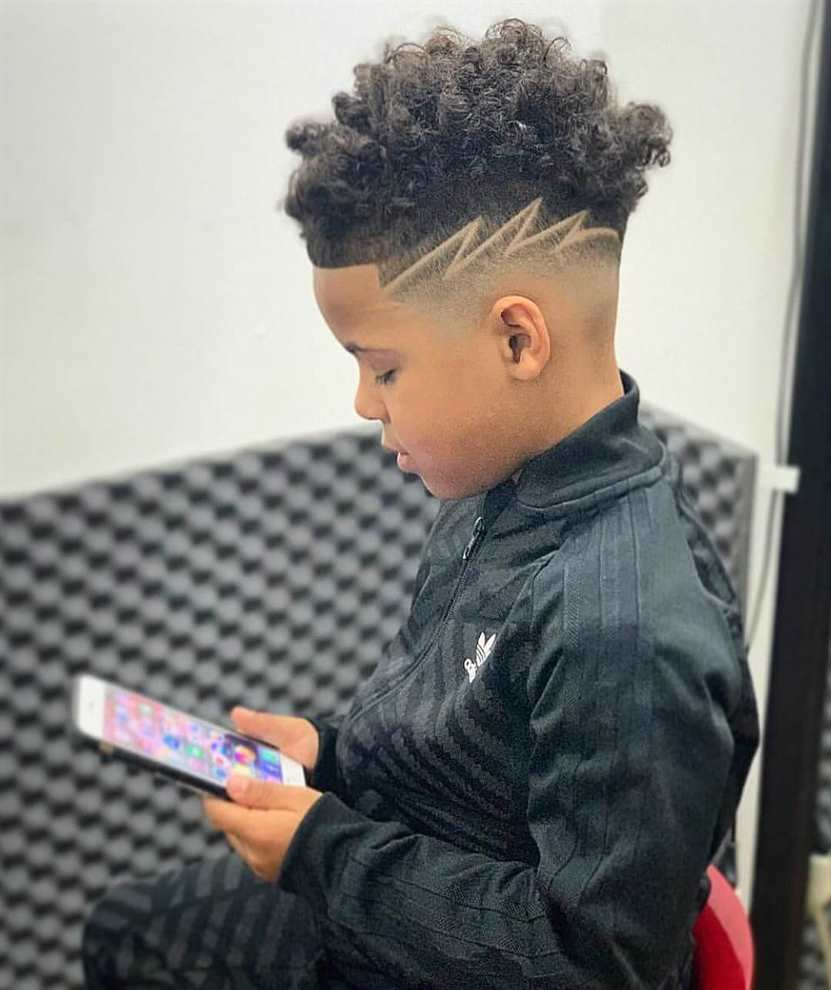 Black Boy Blurry Fade Haircut Design Entertainmentmesh