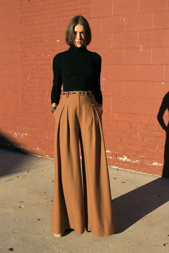 classy palazzo pants outfits