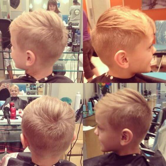 cute little boy side part haircut