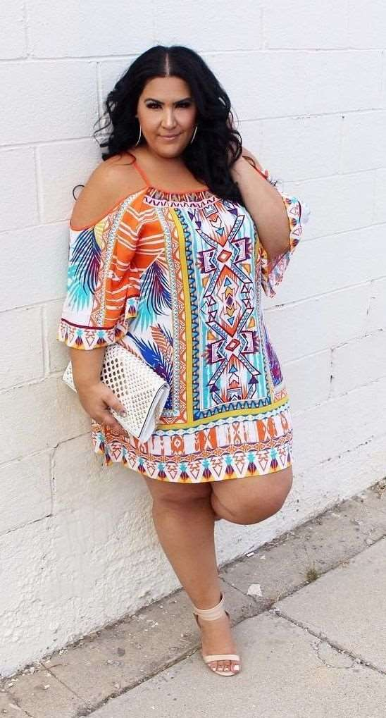 plus size women summer outfit