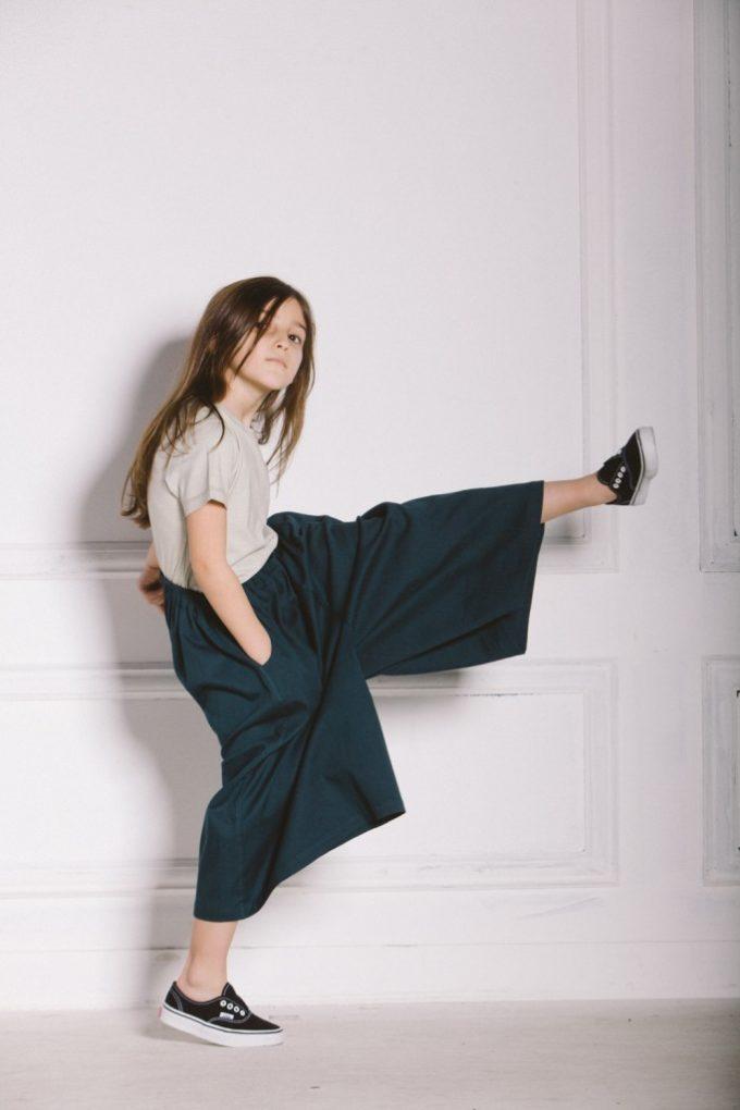 voluminous culotte with elastic waistband