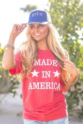 Made In America Vinyl Tee shirt ideas for girls