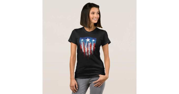 cool captain america retro t-shirt ideas for women