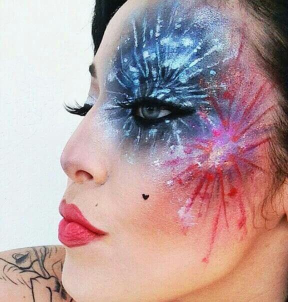 fourth of july happy independence day firework face paint design