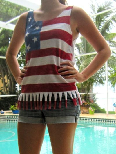 girls fun diy fourth of july t-shirts