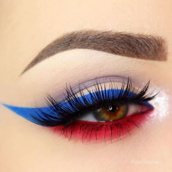 happy fourth of july eye makeup