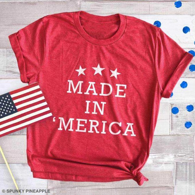 patriotic 4th of july Made in America t-shirt ideas for girls