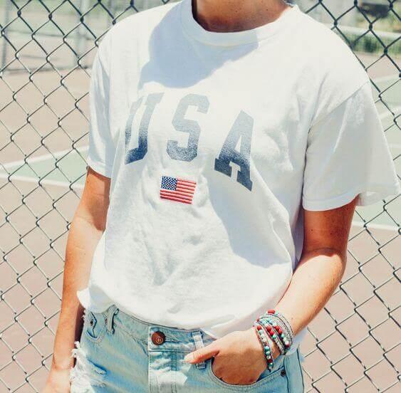usa tee shirt for females