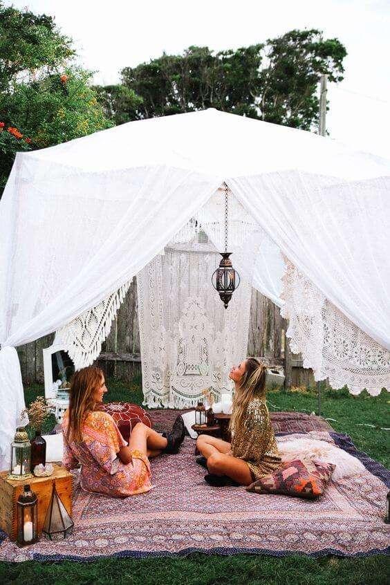 boho decor summer backyard garden party ideas