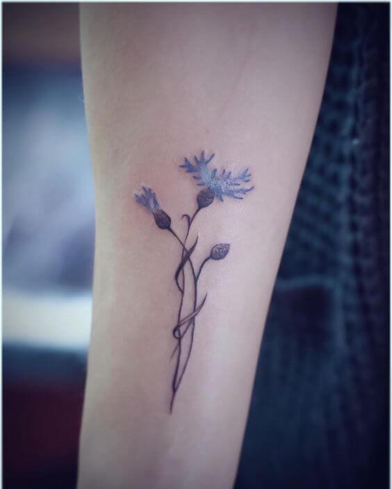 conflower tattoo design