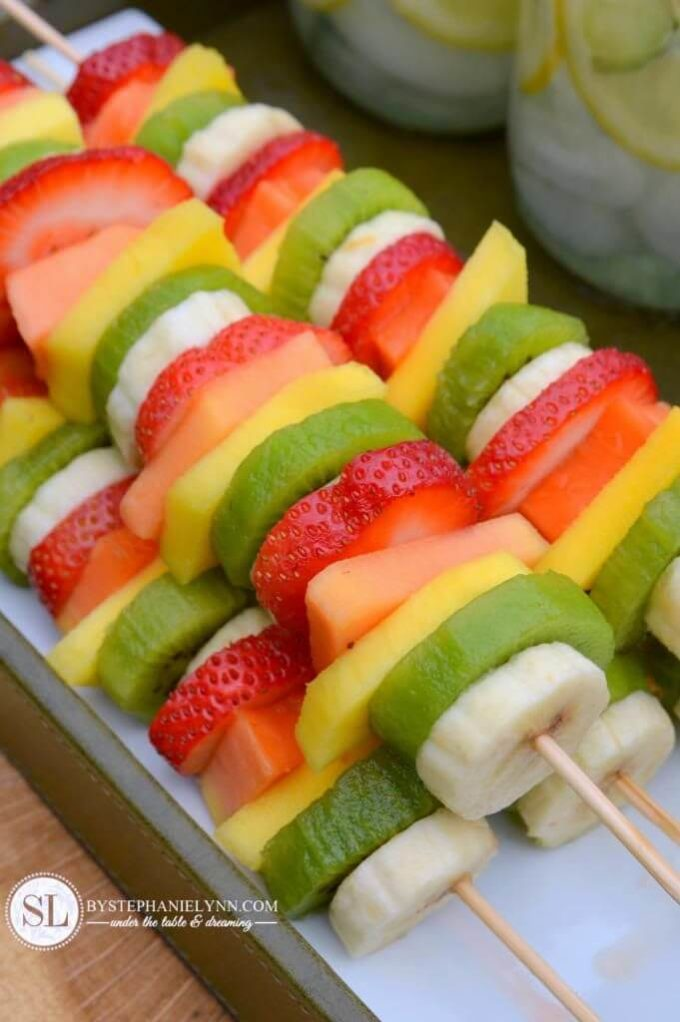 healthy fruit snacks for summer outdoor party