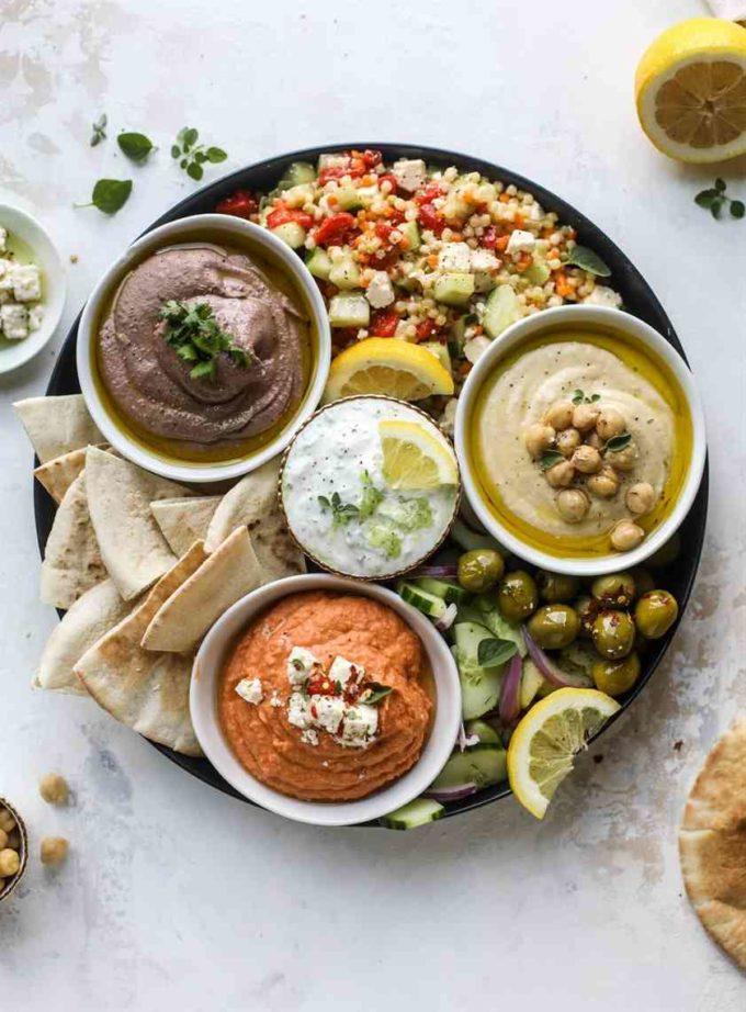hummus platter receipe ideas for summer garden party