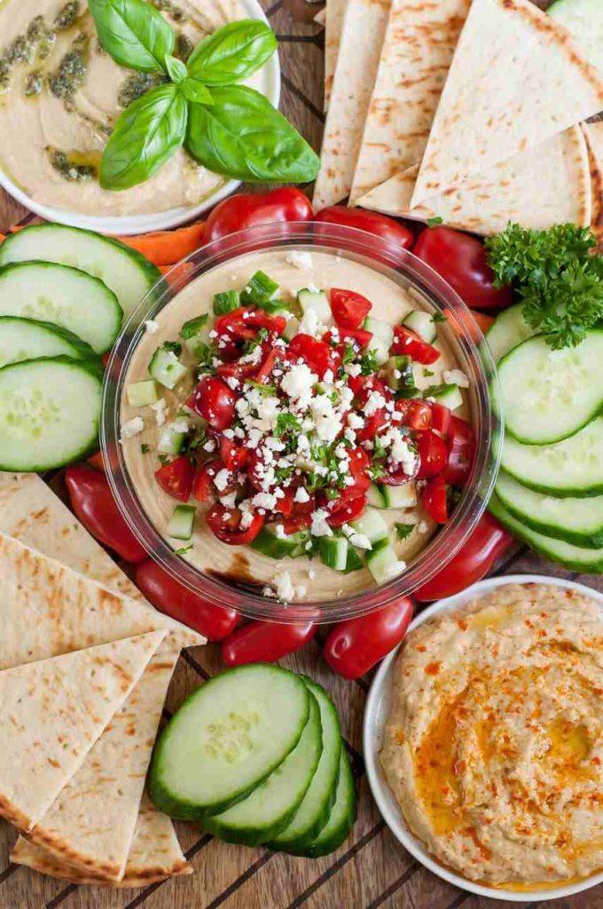 mediterranean bruschetta hummus platter receipe ideas for summer party