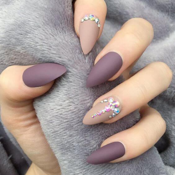 acrylic stud nail art