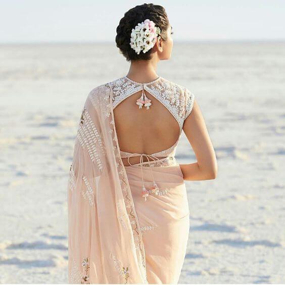 backless blouse design 2019